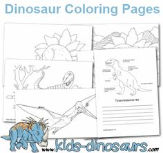 Free, Printable Dinosaur coloring pages and sheets to color. Facts and information abo. printable coloring book pages, connect the dot pages and color by numbers pages for kids. Dinosaur Printables, Dinosaur Activities, Dinosaur Crafts, Color Activities, Dinosaur Party, Dinosaur Coloring Pages, Coloring Pages For Kids, Colouring Pics, Free Coloring