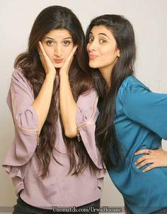 Urwa And Mawra Hussain. Stylish Photo Pose, Stylish Girl Pic, Girl Photo Poses, Girl Poses, Bff Poses, Friend Poses Photography, Pakistani Girl, Pakistani Actress, Indian Photoshoot