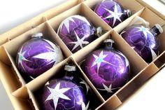 Vintage Purple Ornaments Vintage Christmas by VintageChristmasJunk