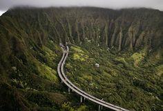View from Haiku Stairs, Hawaii