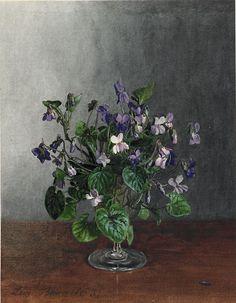Léon Bonvin (1834-1866) - Goblet with Violets, 1863