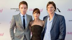 Eddie Redmayne, Felicity Jones and Director James Marsh.The Theory of Everything stars and director were the recipients of The Hollywood Reporter's 2014 Breakthrough in Film Awards. Advertisement