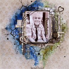 """May Post By """"Treasure"""" Layout by Rachael Funnell DT for 2 Crafty Chipboard  - Wendy Schultz ~ Scrapbook Pages 3."""