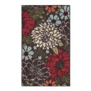 Better Homes & Gardens Sorbet Faux Hook Floral Area Rug or Runner, Multi-Color Floral Area Rugs, Floral Rug, Floral Design, Area Rug Sizes, Accent Rugs, Rug Material, Warm Colors, Rich Colors, Better Homes And Gardens
