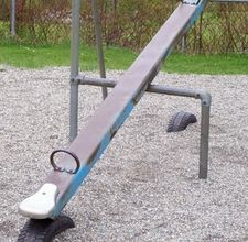 Yes I would love to have this in my backyard for my grandboys...or maybe ME! We called it a see-saw!