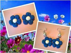 L'isola della Fantasia Bijoux - Orecchini fiori in fimo handmade