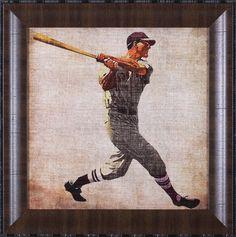 Vintage Sports VI by John Butler Framed Painting Print