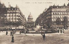 La rue Soufflot en direction du Panthéon, vers 1905.