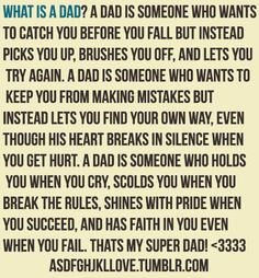 Love your dad while you can, for you will not always have the chance.