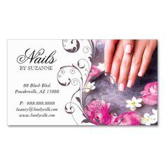 Nail tech professionals business card template pinterest nail 122 nail salon business card pink taupe colourmoves