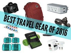 Take a look inside my bag with this list of all my favorite travel gear this year, from my go-to carry-on bag to my camera to my favorite travel sandals.