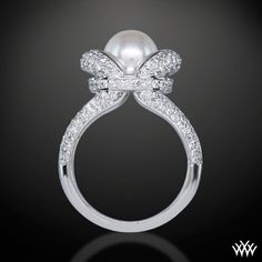pearl engagement ring- beautiful!