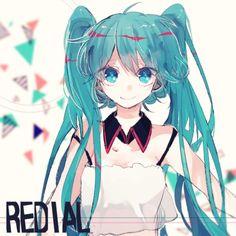 Image via We Heart It #anime #girl #hatsunemiku #kawaii #vocaloid #pixiv