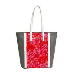 Καθημερινή τσάντα γκρι-floral