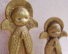 Vintage Mod Christmas Angels 1960s 70s Statues by FeraliaVintage, $11.25