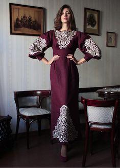 Платье в пол цвета марсала  ПЛ-770358