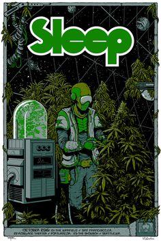 Sleep West Coast Poster by Arik Roper And David D'Andrea
