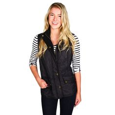 Cavalry Quilted Gilet in Black by Barbour #Barbour #Barbour-GWP #Barbour-Permitted-Sale