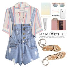 """""""Summer pastels"""" by purpleagony on Polyvore featuring Solid & Striped, Le Specs, Royce Leather, Byredo, Kate Spade and Madewell"""