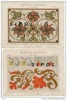 German cross stitch design. These can be used for any craft that utilizes a grid: needlepoint, knitting, mosaic, etc.