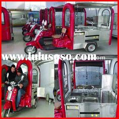 Mini mobile food kiosk carts for sale