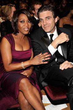 Alfre Woodard and her husband. #interracial