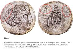 Greek Overstrike Thrace Thasos over Athens BCE) Thasos, Greek History, Alexander The Great, Macedonia, Coin Collecting, Gold Coins, Athens, Silver, Collection