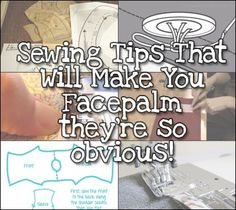 Very useful sewing tips