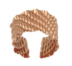 NEW! Exceptional Corrugated Wave Copper Cuff Bracelet https://www.johnsbrana.com/products/corrugated-wave-copper-cuff-bracelet