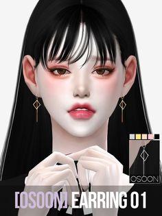 [Osoon] Earring 01 5 Swatches New Mesh Custom...