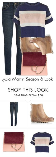 """Lydia Martin Season 6 Look"" by tynestar ❤ liked on Polyvore featuring Yves Saint Laurent, SOREL, Chloé and Topshop"