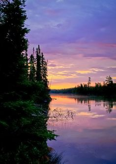 Caribou Lake in the Boundary Waters, Minnesota.