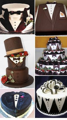 Tuxedo-Design Groom's Cakes