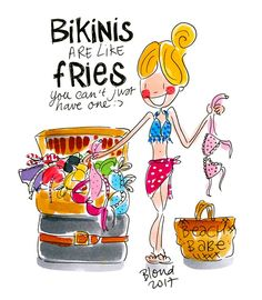 Bikinis are like fries. Blond Amsterdam, Shabby Chic Christmas, Victorian Christmas, Blue Christmas, Christmas Lights, Vintage Christmas, Christmas Ornaments, Diamond Picture, Self Design