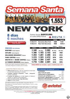 NEW YORK Semana Santa 2014 vuelo directo desde Barcelona desde 1.553 euros ultimo minuto - http://zocotours.com/new-york-semana-santa-2014-vuelo-directo-desde-barcelona-desde-1-553-euros-ultimo-minuto/