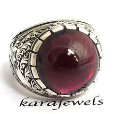 Sterling Silver Precious Handmade Ring for Men by KaraJewelsTurkey, $269.00