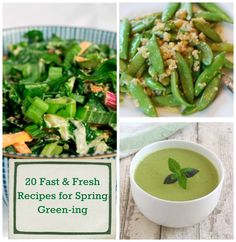 20 Fast & Fresh Green Recipes for Spring Green-ing