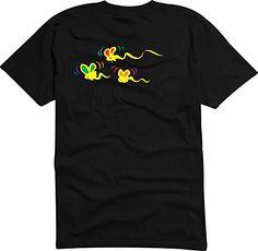 T-Shirt - Camiseta D933 Hombre negro con la impresión en color M - diseño cómico Tribal / gráfico logo animales / minúsculo colorido colectividad de mariposa #camiseta #starwars #marvel #gift
