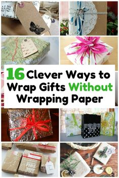 If you are in a rush and no available gift wrapper, be creative and innovative. Use the resources around you to wrap them beautifully.