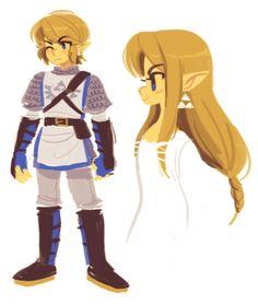 Hyrule Warriors Link/Zelda early morning doodle :) Hope you like it! The Legend Of Zelda, Legend Of Zelda Breath, Hyrule Warriors Link, Link Art, Twilight Princess, Princess Zelda, Link Zelda, Wind Waker, Pokemon