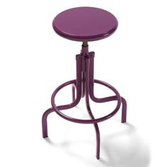 Bravo Metal Swivel Stools---in green of course! Plum Color, Color Pop, Home Decor Shops, Industrial Chic, Foot Rest, Home Accessories, Bar Stools, Grandin Road, Flooring