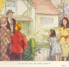 The Family at Red-Roofs by Enid Blyton ill Barbara C Freeman Book Cover Art, Book Art, Enid Blyton Books, Red Roof, Vintage Children's Books, Old World Charm, Children's Book Illustration, Art Sketches, Childrens Books
