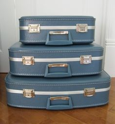 Retro stacking luggage.