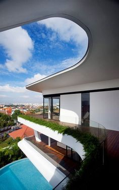 Tropical Modern Hilltop House In Singapore   Aamer Architects