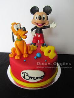 Doces Opções: Bolo com o Mickey e o Pluto para o 4º aniversário ...
