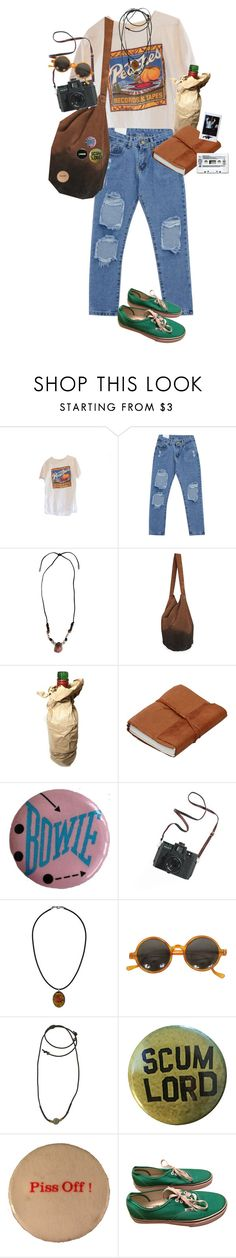 """peaches succ"" by kampow ❤ liked on Polyvore featuring Chicnova Fashion, Yves Saint Laurent, Madewell, Topshop, 1928, Vans, indie, Punk, grunge and art"