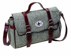 Harris Tweed Brown Fleck Fashion Satchel Handbag