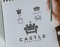 Castle Logo projects   Photos, videos, logos, illustrations and branding on Behance Inspiration Logo Design, Graphic Design Tips, Graphic Designers, Design Ideas, Creative Logo, Creative Design, Logo Sketches, Artist Logo, Logo Concept