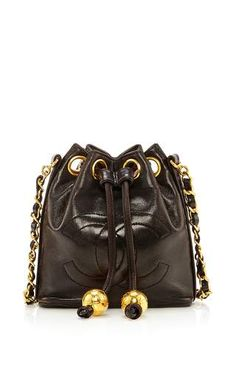 4a0277bfe09f What Goes Around Comes Around - Chanel Black Lamb CC Micro Bucket Chanel  Shoes