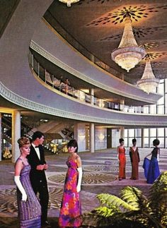 """No, that's not a scene from """"Mad Men"""", it's The Music Center: Performing Arts Center of Los Angeles in 1968! - When we used to get dressed up to go see a play! ...well some did in 68 - just not me! I loved embarrassing mom by then and going in something counter-culture looking!"""